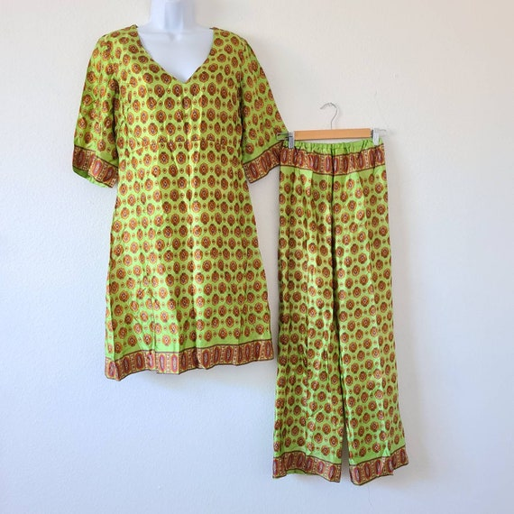 Vintage 50s 60s beach pajamas set summer two piece