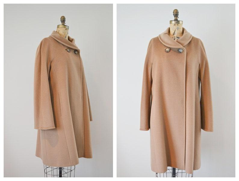 a8505136b0cff4 Vintage Cinzia Rocca Virgin Wool Camel Color Coat Long   Etsy