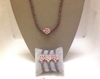 Necklace Flower Ceramic