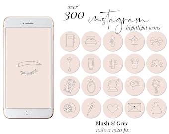 Instagram Highlight Covers Black White Marble