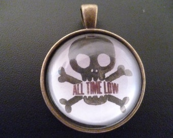 All Time Low skull and crossbones necklace