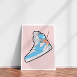 JORDAN DIGITAL PRINT - Off White, Supreme, Adidas, Nike, Air Jordan, Jordan Decor, Gift for him, Nike Decor, Sneaker Art, Sneaker Print