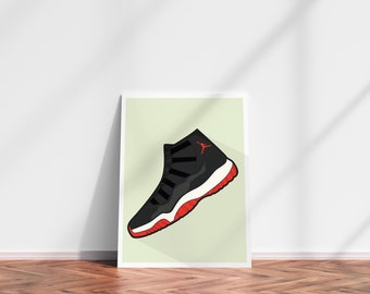 bb4a89b269034 Air Jordans 11 DIGITAL PRINT Supreme Streetwear Nike Adidas Sneaker head  Yeezy Print Gift for him Home Decor jordan decor jordan decorations