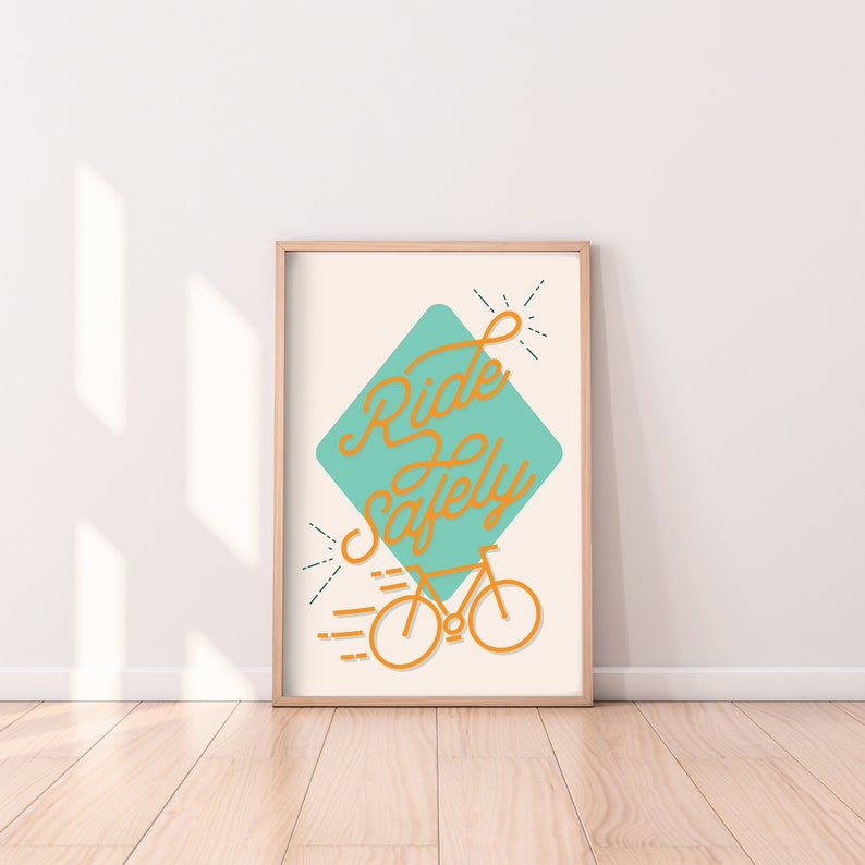 BIKE DIGITAL PRINT  wall decor home decor motivational image 0