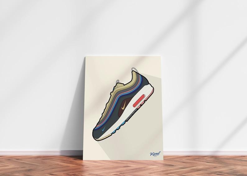 NIKE WOTHERSPOON  NIKE Poster Nike prints Sneaker Art image 0