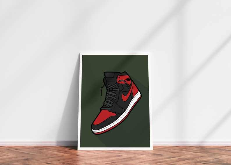 Air JORDAN DIGITAL PRINT nike streetwear home decor wall decor image 0