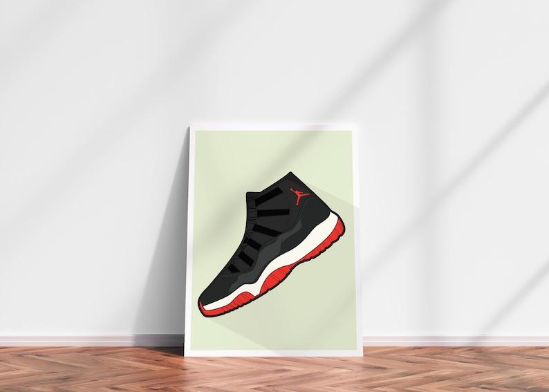 half off 8d9ae b24f1 Air Jordans 11 DIGITAL PRINT Supreme Streetwear Nike Adidas   Etsy