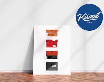 Sneaker Boxes - Sneaker Art Digital Print Poster
