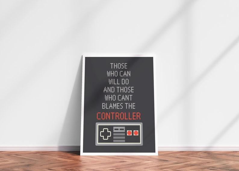 GAMER DIGITAL PRINT  Controller wall art Funny controller image 0
