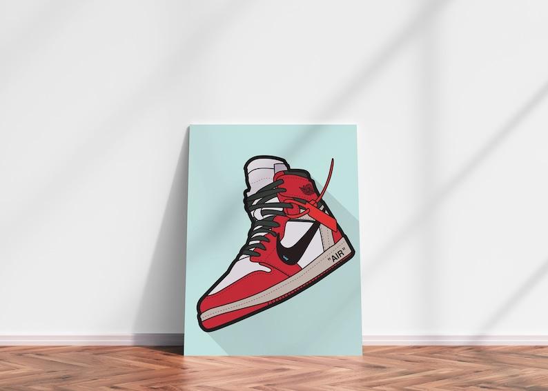 JORDAN DIGITAL PRINT  Nike Air Jordan Off White Supreme image 0