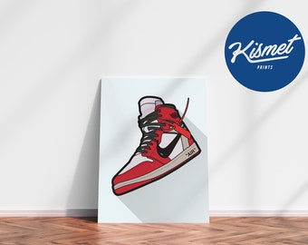 AIR JORDAN 1 OFF-White - Sneaker Art Digital Print Poster