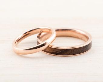 Trauringset Verlobungsringe Ringset Mit Holz Bentwood Eheringe Etsy