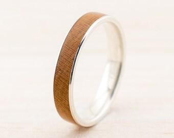 Damen Verlobungsring Mit Holz Silber Gold Platin Etsy