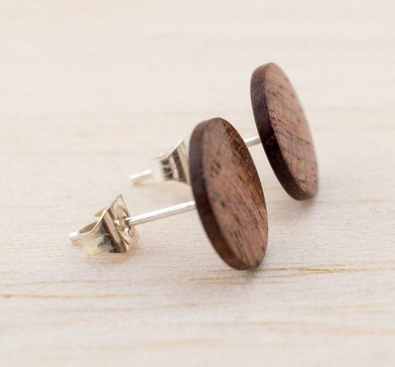 por supuesto 1 pares de pendientes de madera con motivo estrella ohrhänger pendientes hecho a mano