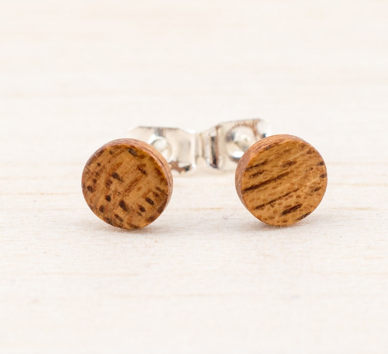 4675d42c6 Wood Stud earrings wooden post studs mens earrings unisex wood | Etsy