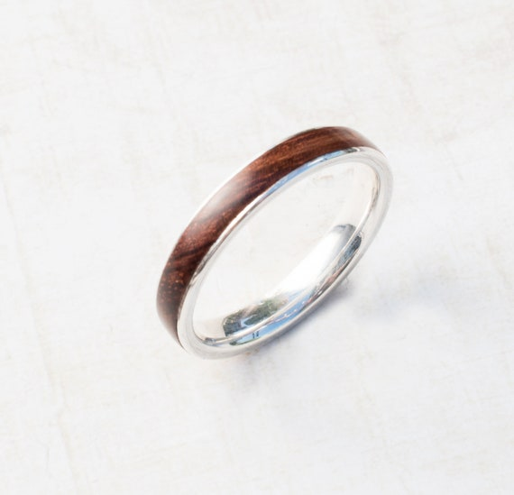 Silber Holz Verlobungsring Ring Mit Holz Bentwood Ehering Etsy