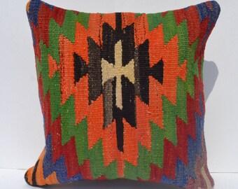 "16"" bohemian bedding,couch pillow case,bedding pillow cover,throw pillow orange,woven cushion cover,aztec pillow cover,floor decorative"