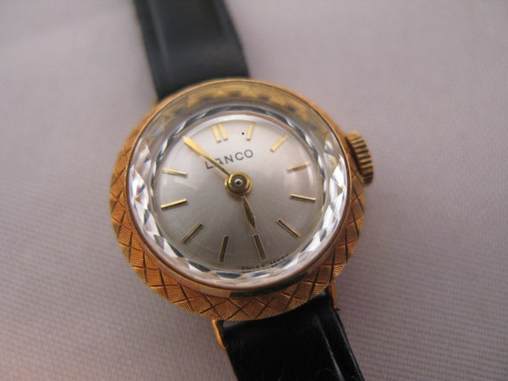 LANCO Rare Swiss Ellegant Lady's  Wristwatch - Watch NIB with tags from the 1970's