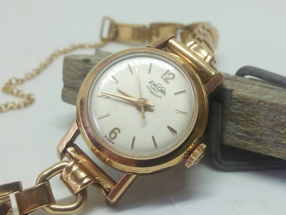 Vintage Swiss Enicar Ultrasonic 17 jewels ladies watch - wristwatch - Christmas Gift - Mothers Day - Gift for Her