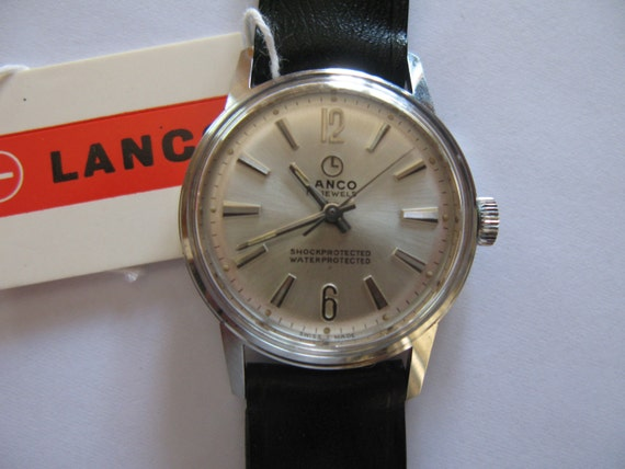 Vintage Unisex Lanco Swiss watch - wristwatch 478 17j NIB with tags