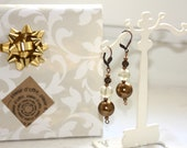 Earrings retro old gold m...