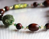 Green Tiger eye and Cryst...