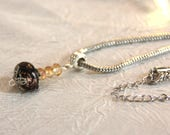 Necklace with metal chain...
