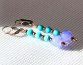 Turquoise earrings, mothe...