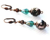 Earrings jasper ocean and...