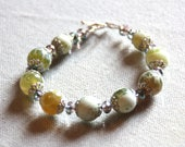Green fire agate, Crystal...