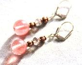 Earrings flowers LCDM pin...