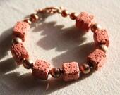 Ocher color lava stone br...