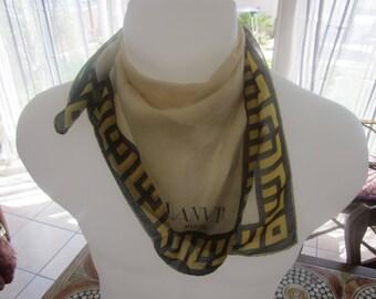Vintage Authentic Lanvin Paris Scarf Pocket Handkerchief For lady Pure silk Authentique  Foulard Luxe Dame pure Soie Lanvin PARIS Fashion 544ec5f7db1