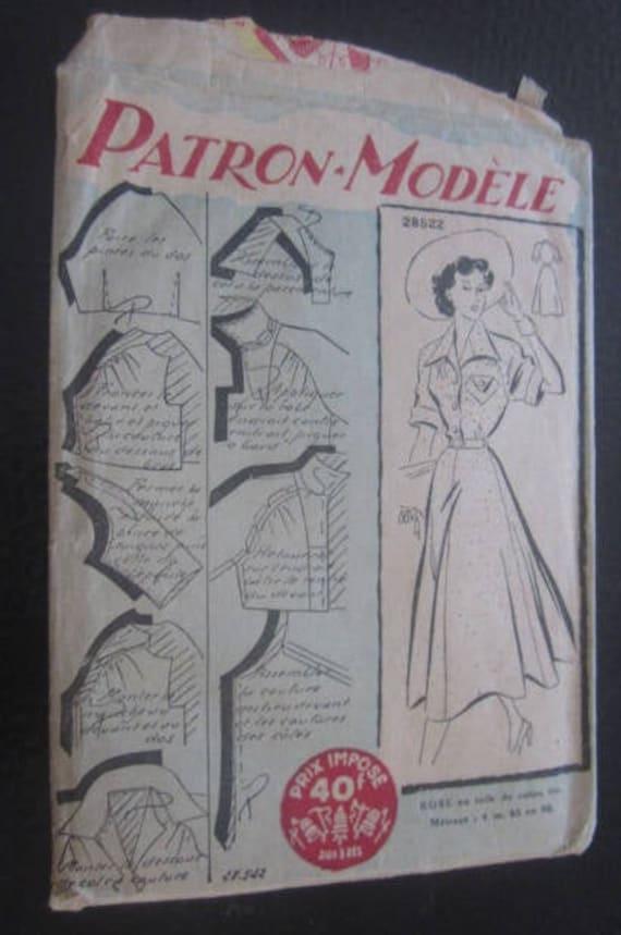 Vintage French Lingerie Robe En Toile De Coton Dress Pattern Etsy