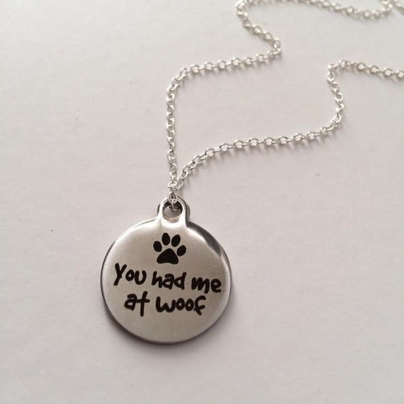 Stainless Steel  Necklace,Birthday Gift British Seller UK,Christmas Gift Silver Charm Necklace Dog Necklace