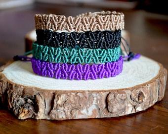 Macrame Heart Bracelet - braid bracelet - Love bracelet - Micro macrame bracelet - Stacking bracelet - Friendship adjustable bracelet