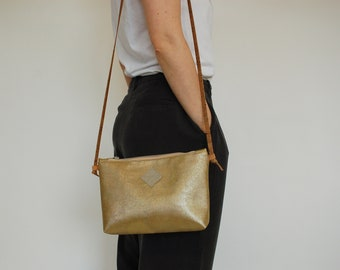 Sustainable black Clutch made of Corkskin