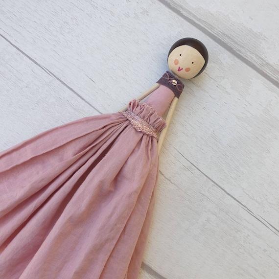 Fairy  Sugar Plum Fairy  Fairydoll  Wooden Doll  Tree Topper  Christening Fairy  Vintage Style Fairy  Fairy Heirloom by Justsosara