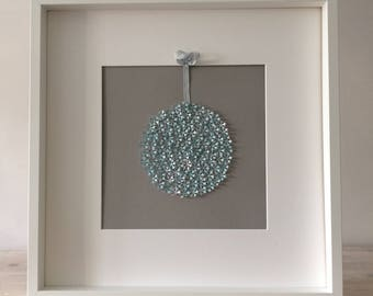 Snowflake cut out bauble picture - 50 x 50 cm