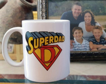Super Dad Coffee Mug, Gift For Dad