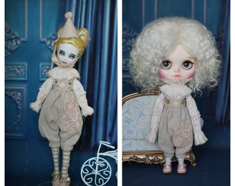 Dyed outfit for Monster High/EAH, Neo Blythe, Licca, Azone pure neemo M/S, Obitsu  24/25 dolls  1/6 size