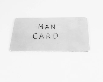Wallet Card - Hand Stamped ~ Father's Day ~ Anniversary