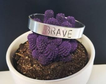 "1/2"" Wide Stamped Bracelet ~ Personalized Jewelry"