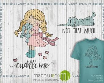 Plotterfile Cuddle me-Girl cutting file piece