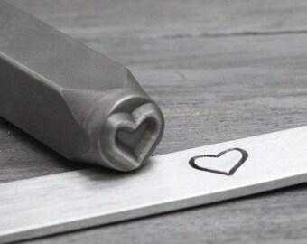 Heart Metal Stamp, Heart Design Stamp, Metal Design Stamp, Hand Stamping Tool, Stamping Supplies,Love Metal Stamp, 6mm Beadsmith, IV3002
