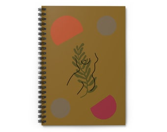 Curry Floral Woman Goddess Front Notebook - Ruled Line