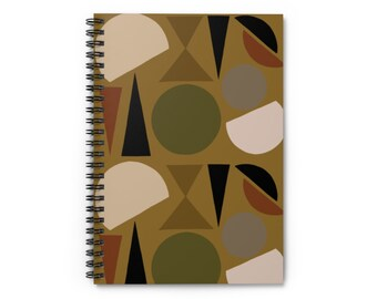 Green Geo Shapes Notebook - Ruled Line