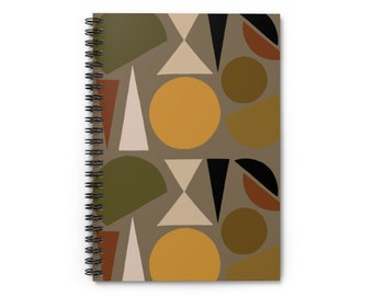 Gray Geo Shapes Notebook - Ruled Line