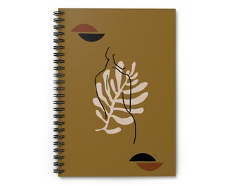 Green Floral Woman Goddess Back Notebook - Ruled Line