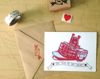 You Tug At My Heart - Valentine - Greeting Card